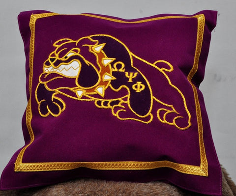 Omega Psi Phi Bulldog Pillow
