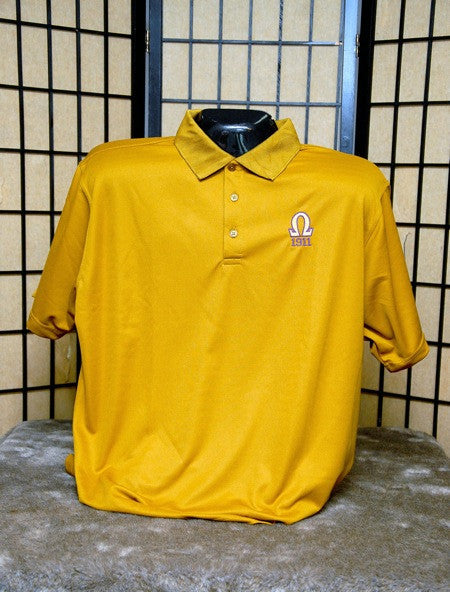 Omega Psi Phi-Gold Polo Shirt