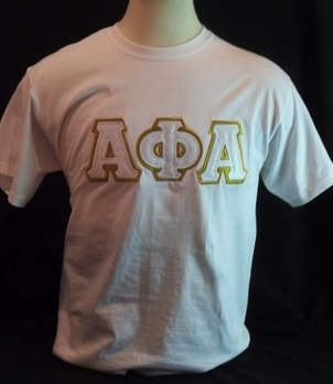 Alpha Phi Alpha-White Big Letters Tee