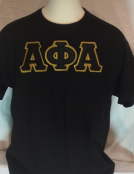 Alpha Phi Alpha-Black Big Letters Tee