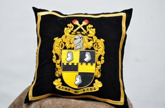 Alpha Phi Alpha-Hand Embroidered Pillow