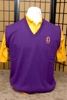 Omega Psi Phi-Purple Sweater Vest