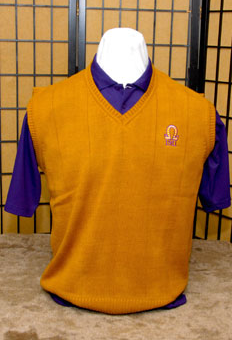 Omega Psi Phi-Gold Sweater Vest