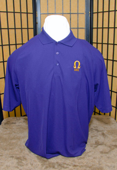 Omega Psi Phi-Puple Polo Shirt