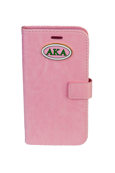 AKA Pink IPhone 6 and 6Plus Leather Phone Case (Wallet Style)
