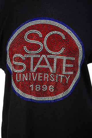 South Carolina State University Zeta Phi Beta Round Bling Shirt