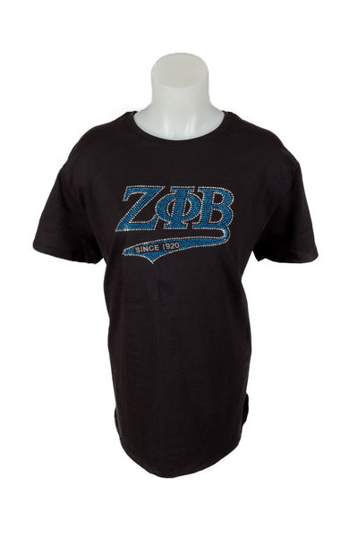 Zeta Phi Beta Script Bling Shirt
