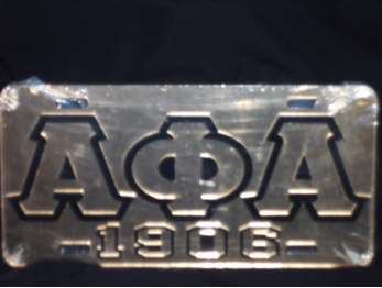 Alpha Phi Alpha-1906 Gold License Plate