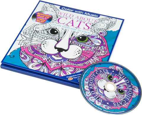 Coloriage Anti-Stress avec CD - Chats Charmants