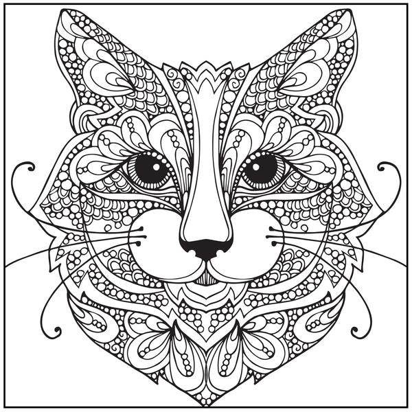 Coloriage Anti Stress Magazine.Coloriage Anti Stress Avec Cd Chats Charmants