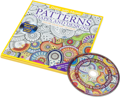 Coloriage Anti-Stress avec CD - Formes & dessins en folie