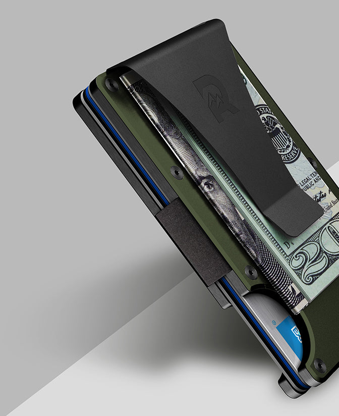 The Ridge Wallet: Slim, RFID blocking metal wallet