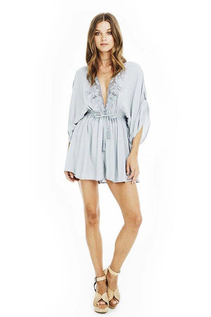 astr mila romper embroidered dusty blue