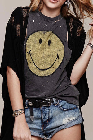Daydreamer LA - Destroyed Smiley Muscle Tank