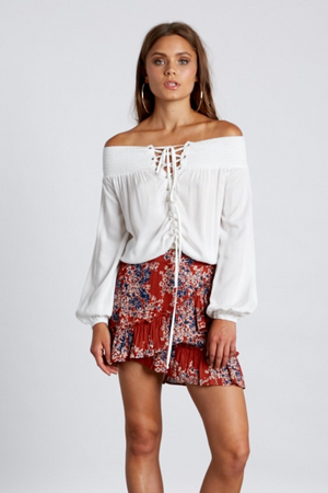 Lola Off-The-Shoulder Top - White