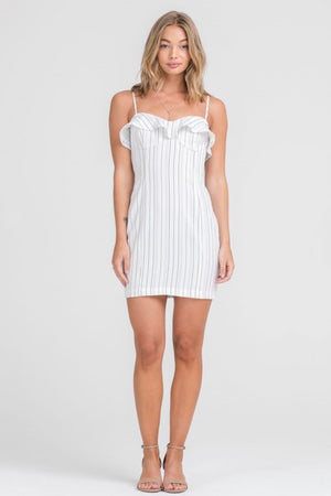 lush-dress-white-spaghetti-straps-black-stipes
