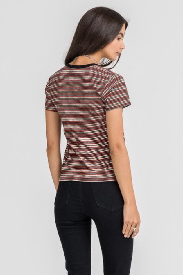 Lush Striped Knitted Top
