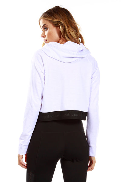 UNSTOPPABLE CROP HOODIE - WHITE