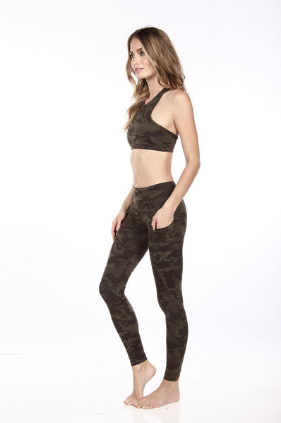 BOWIE CROP TOP - GREEN CAMO