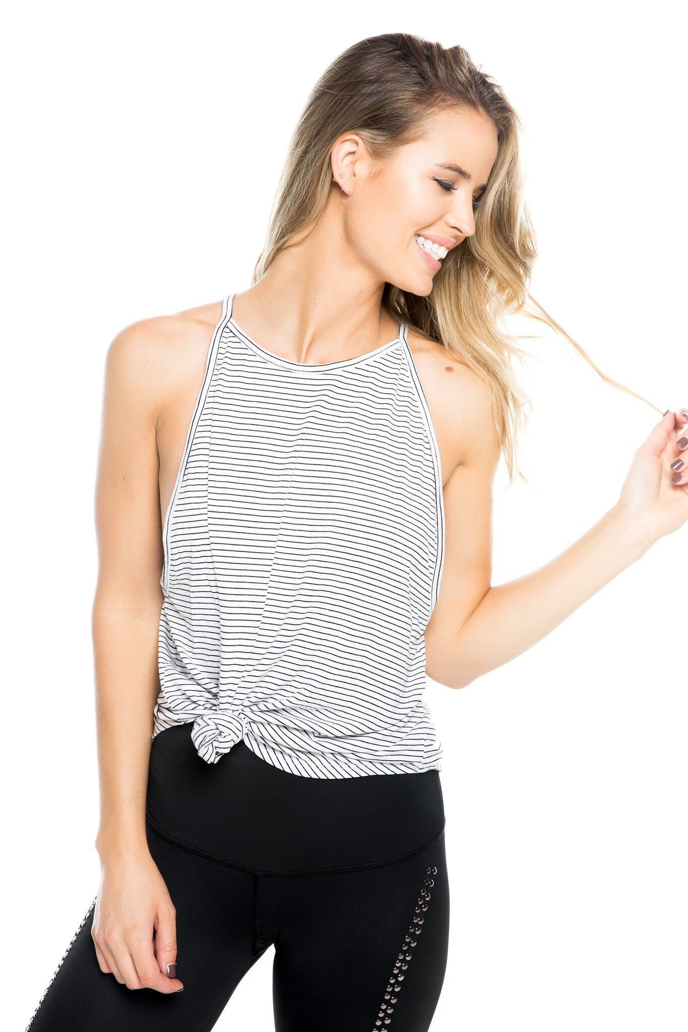 VALLEY TANK- BW STRIPE