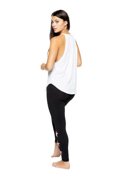 ELLE TANK TOP- WHITE RIB