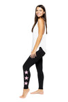 STAR ANKLE - BLACK/PINK STAR