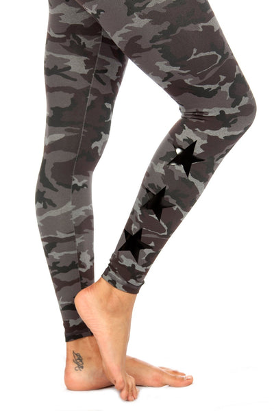 STAR ANKLE - TONAL CAMO/BLACK STAR
