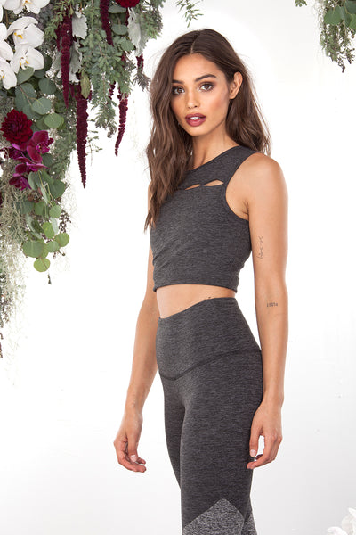 ASPEN CROP TOP - DARK MOSS