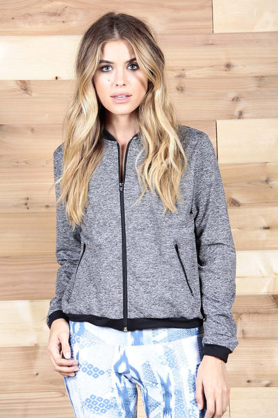 The Bomber Jacket in Grey Moss