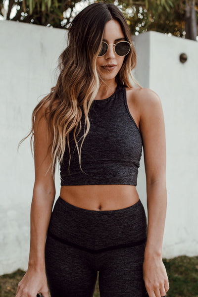 The Bowie Crop Top in Dark Moss