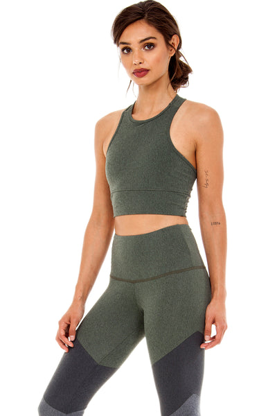 The Bowie Crop Top in Hunter Green