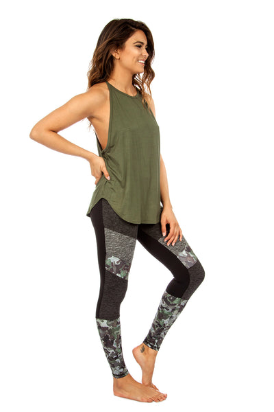 The Elle Tank in Olive