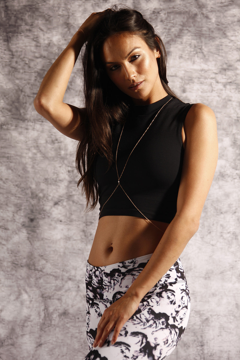 The Frankie Crop in Black