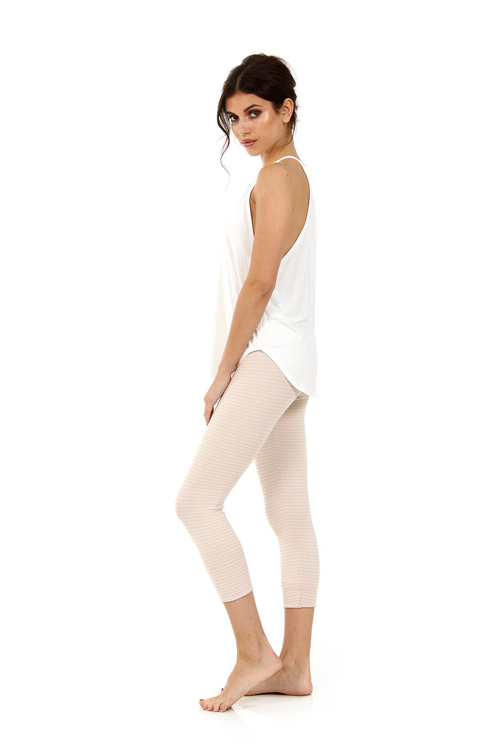 The Hudson Capri in Nude Chex