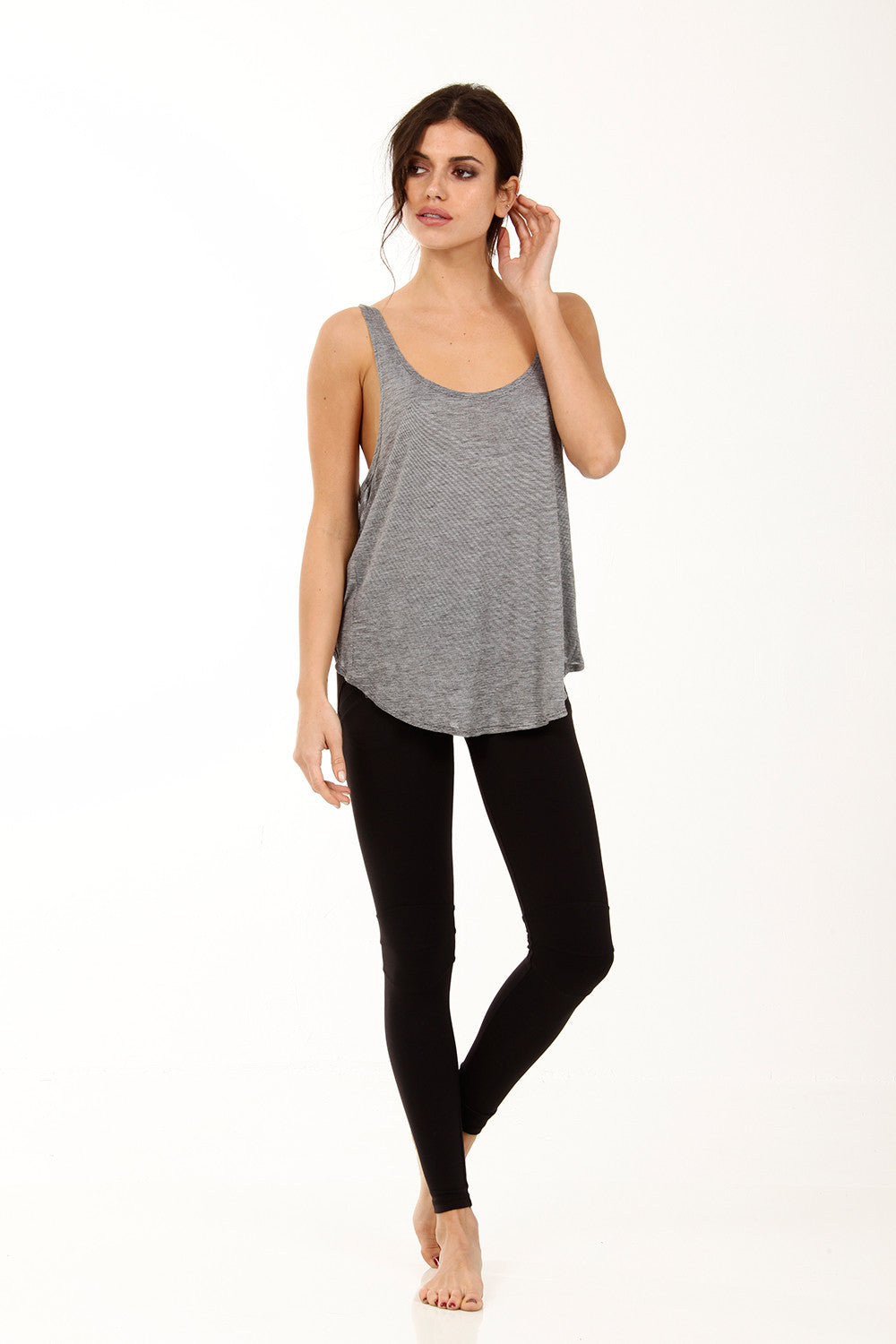 The Isabelle Tank in Grey Speckle