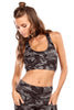 The Kinzie Bra in Moss Camo
