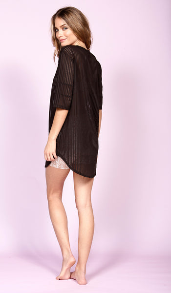 PENN DRESS - BLACK MESH