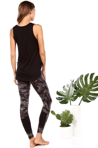 The Shameless Pant in Moss Camo