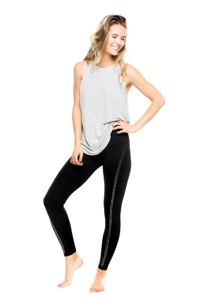 LUX PANT- BLK/SILVER STUD