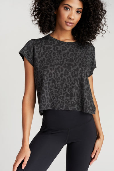 RYAN TEE- GREY LEOPARD