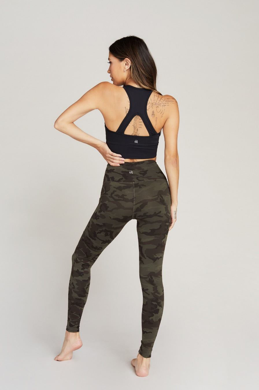 BOWIE CROP TOP - BLACK MOSS