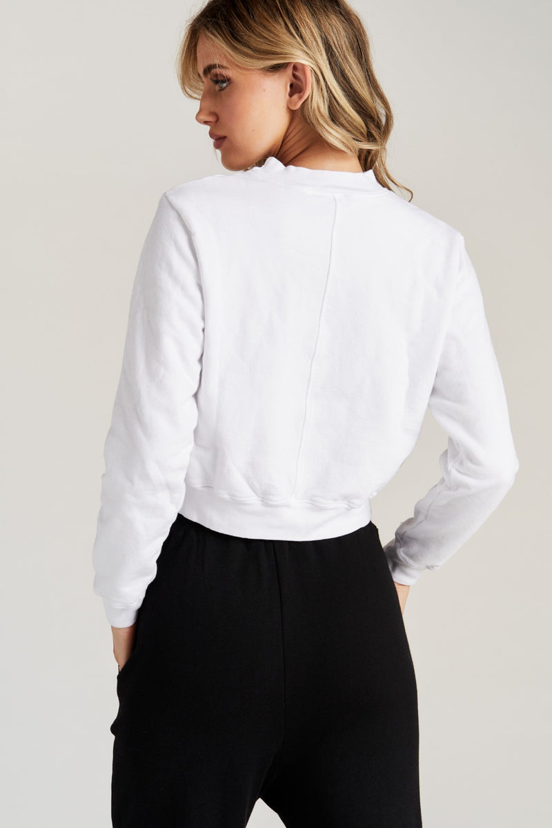 GEORGIE SWEATSHIRT- WHT