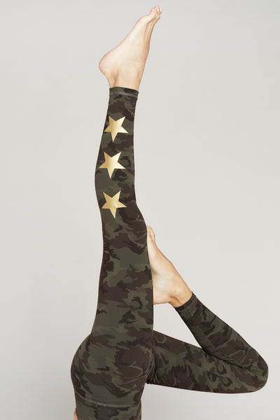 STAR ANKLE - GREEN CAMO/GOLD STAR