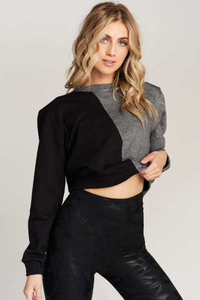 ALLURE SWEATSHIRT- BLK/GREY