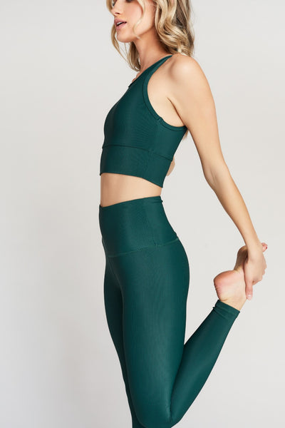 KENDALL ANKLE- EMERALD RIB