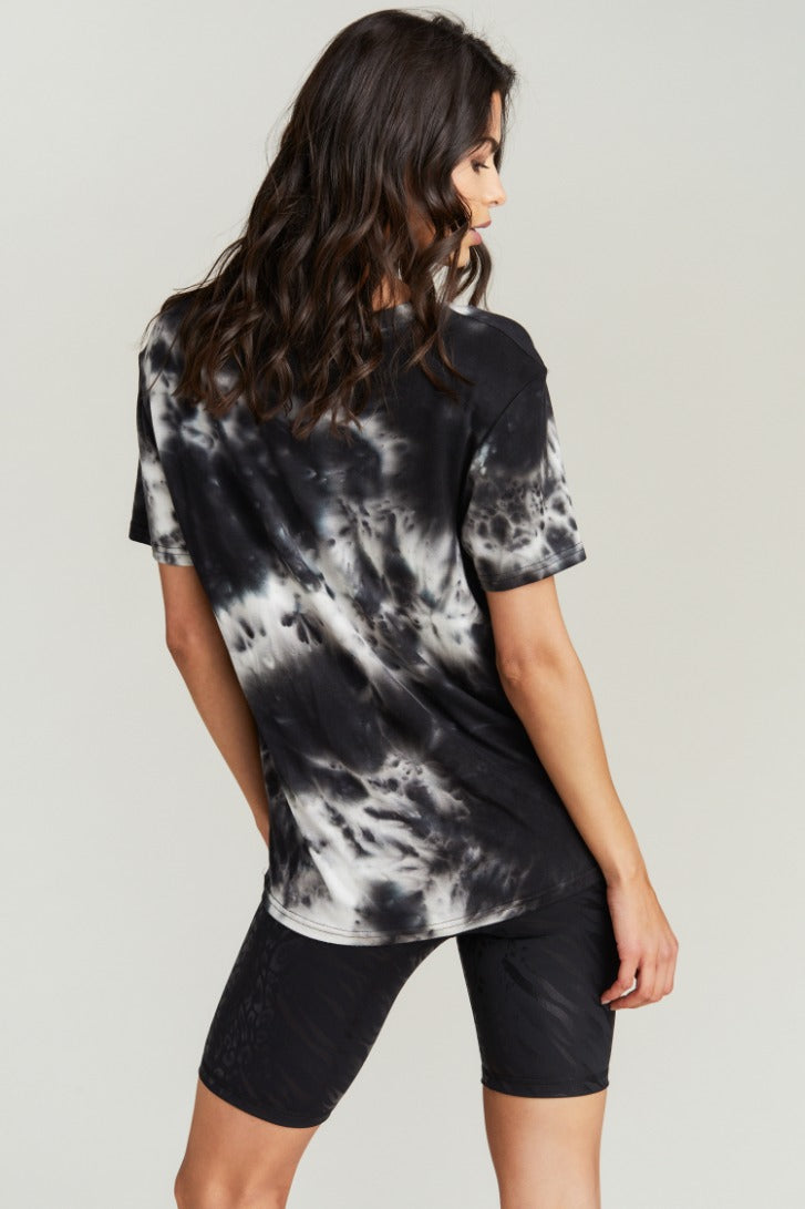 GEORGIA TEE- BLACK WHITE TIE DYE