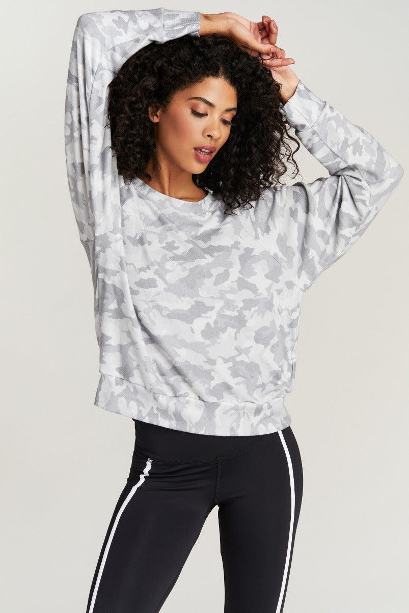 SAWYER SWEATSHIRT- WHITE CAMO