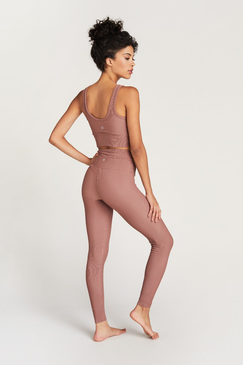KENDALL ANKLE- ROSE RIB