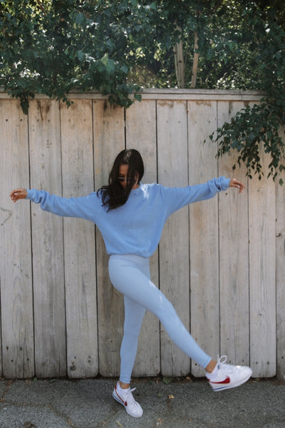 GEORGIE SWEATSHIRT- BABY BLUE