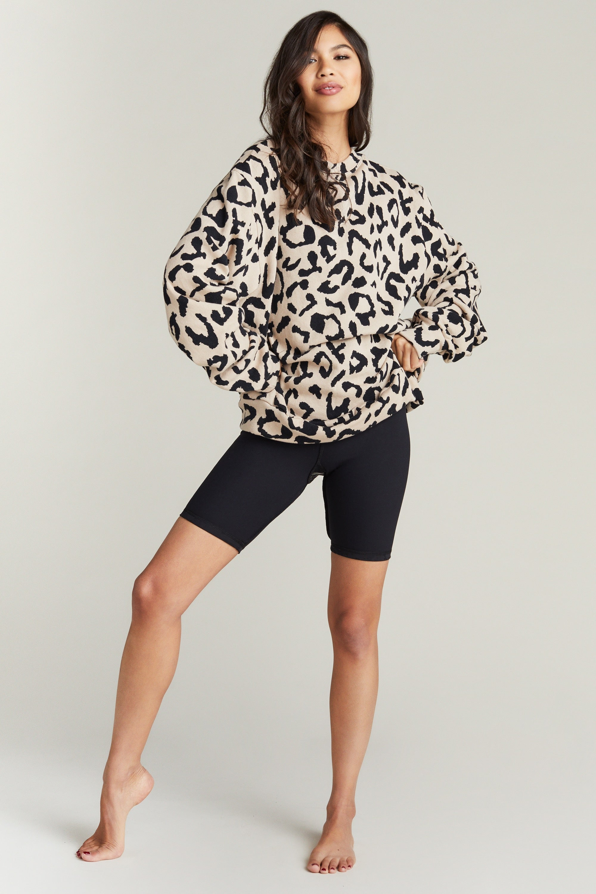 MASON SWEATSHIRT- CREAM CHEETAH